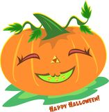 Halloween Pumpkin with a Smile Royalty Free Stock Images