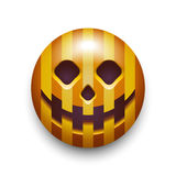 Halloween pumpkin smiley icon. Royalty Free Stock Photography