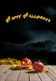 Halloween pumpkin smiling in the night Royalty Free Stock Photo