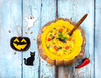 Halloween Pumpkin soup Royalty Free Stock Image