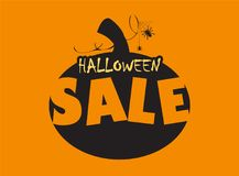 Halloween pumpkin with special offer. Time for halloween sale. Sale advertisement with pumpkin. Halloween theme clean design Royalty Free Stock Image