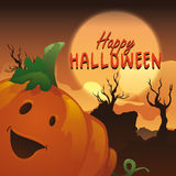 Halloween pumpkin on spooky background royalty free illustration