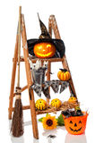Halloween Pumpkin Step Ladder Stock Image