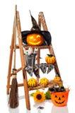 Halloween Pumpkin Step Ladder Stock Image
