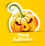 Halloween pumpkin sticker Royalty Free Stock Photos