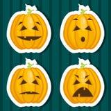 Halloween pumpkin stickers. Vector illustration Royalty Free Stock Photos