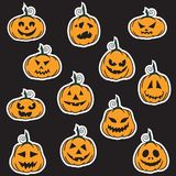 Halloween pumpkin stickers Stock Photo