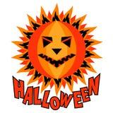 Halloween pumpkin sun inscription  vector illustration Stock Photos