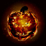 Halloween. Pumpkin sweet fire. The lantern Royalty Free Stock Image
