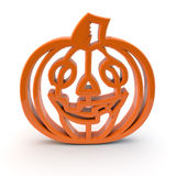 Halloween pumpkin symbol 3d Royalty Free Stock Image