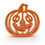 Halloween pumpkin symbol 3d Royalty Free Stock Image