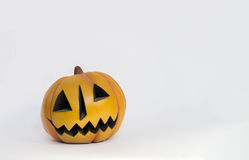 Halloween pumpkin toy. White background stock images