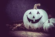 Halloween. Pumpkin, trick or treat in autumn season Royalty Free Stock Photo