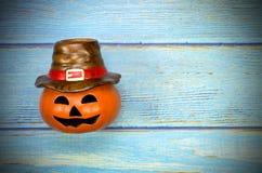 Halloween Pumpkin Trick or Treat lantern. royalty free stock images