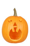 Halloween pumpkin with two teeth Royalty Free Stock Photos