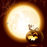 Halloween pumpkin under the moonlight Royalty Free Stock Photography