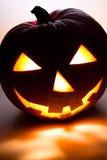 Halloween Pumpkin V3. Glowing Halloween Pumpkin Face grinning Stock Photography