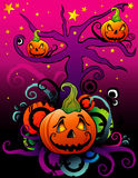 Halloween pumpkin vector Royalty Free Stock Image