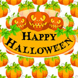 Halloween pumpkin vector card Royalty Free Stock Photography
