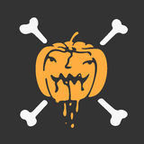 Halloween pumpkin vector icon Royalty Free Stock Image