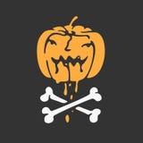 Halloween pumpkin vector icon Royalty Free Stock Photography