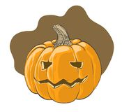 Halloween pumpkin - vector illustration. This is file of EPS10 format Stock Image