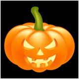 Halloween pumpkin vector illustration, Jack O Lantern  on black background. Scary orange picture with eyes Royalty Free Stock Image