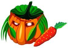 Halloween pumpkin, vector illustration Stock Photo