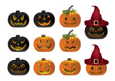 Halloween pumpkin vector. Halloween pumpkin illustration on white Background Royalty Free Stock Images