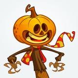 Halloween pumpkin. Vector jack-o-lantern character mascot. Royalty Free Stock Photography