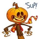 Halloween pumpkin. Vector jack-o-lantern character mascot. Stock Photos