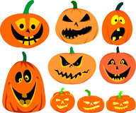 Halloween pumpkin vector set Stock Photos
