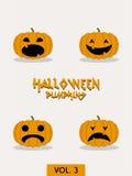 Halloween pumpkin vector set Stock Photography