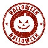 Halloween pumpkin vector stamp Stock Photography