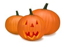 Halloween pumpkin vegetables. Vector Royalty Free Stock Photography