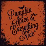Halloween pumpkin vintage lettering background. Stock Photo