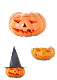 Halloween pumpkin. On white background Royalty Free Stock Photography