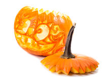 Halloween pumpkin on white background Royalty Free Stock Photo