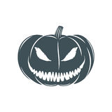 Halloween pumpkin  on white background Stock Images
