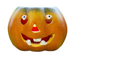 Halloween pumpkin  on white backgrounds Royalty Free Stock Images