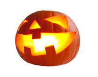 Halloween pumpkin on white Royalty Free Stock Photography