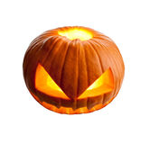 Halloween pumpkin on white Royalty Free Stock Photos