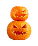 Halloween pumpkin on white Royalty Free Stock Image