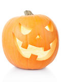 Halloween pumpkin on white Stock Images
