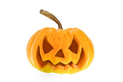 Halloween pumpkin on white Stock Photography