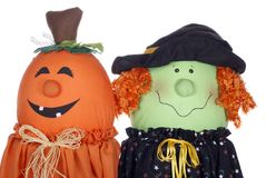 Halloween Pumpkin and Witch Characters Royalty Free Stock Photography