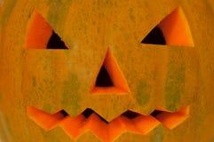 Halloween pumpkin. Yellow halloween pumpkin close up royalty free stock images