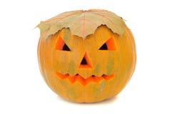Halloween pumpkin. Yellow halloween pumpkin close up stock images