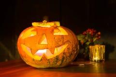 Halloween pumpkin, Zagreb, Croatia. ZAGREB, CROATIA- OCTOBER 31, 2016 : Halloween's pumpkins like decoration for Halloween party on the streets of Zagreb stock image