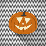 Halloween Pumpkin with Zig Zag Background Royalty Free Illustration